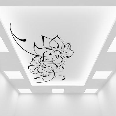 черно белая картинка на потолок послание трепетом отправляют
